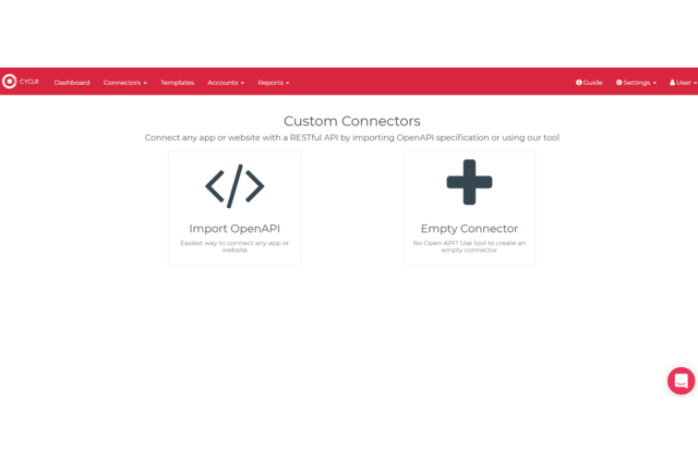 Use our tools to create your own connectors that can integrate with MailChimp. Or...