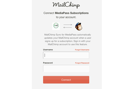 Simply authenticate with your MailChimp account.