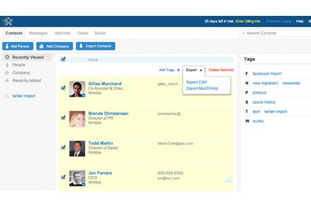Send Nimble contacts to MailChimp