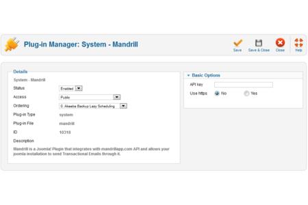 Plugin configuration page