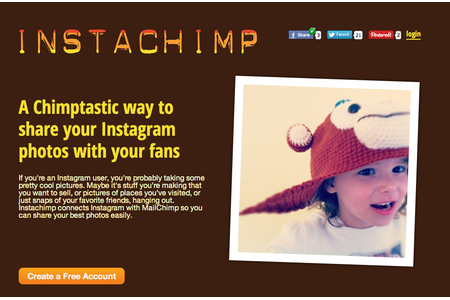 Easy sign-up, cute hat.