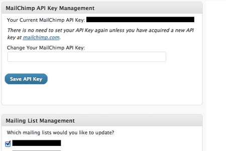 Set your MailChimp API key