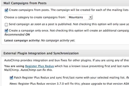 Create campaigns from blog posts